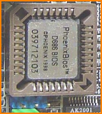 Chip showing PhoenixBIOS label